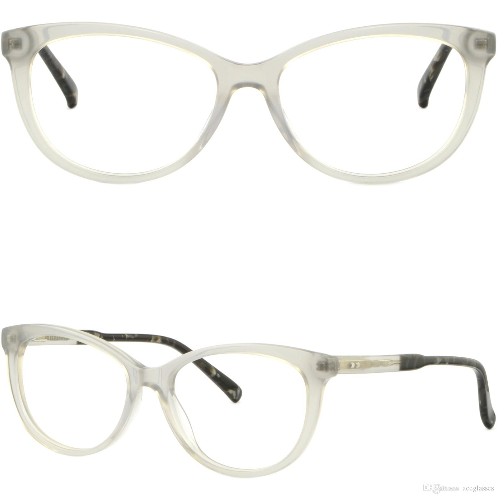 c74bccebe56 Full Rim Women Acetate Frames Prescription Glasses Sunglasses Gray Spring  Hinges Glasses Frame Online with  43.06 Piece on Aceglasses s Store