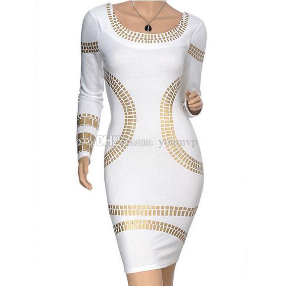 New arrival Women Sexy Black/White Print dress Slim dress lady Backless skirt pencil dress JJD2157