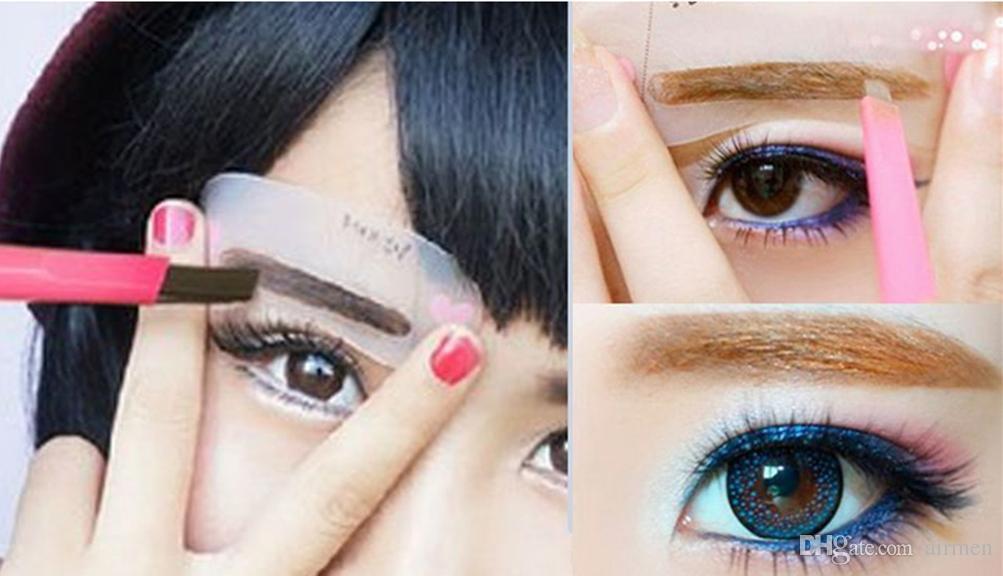 Women Lady Card Grooming Shaping Makeup Tool Waterproof Brown Eyebrow Pencil Eye Brow Liner Pen Powder Shaper Drawing
