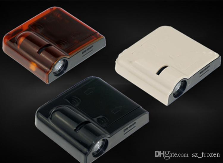 Proiettore senza fili a LED auto / auto LOGO Mark Porta Benvenuto Luce Porta Passo Terra Lampada sporgente tutte le marche Spedizione gratuita