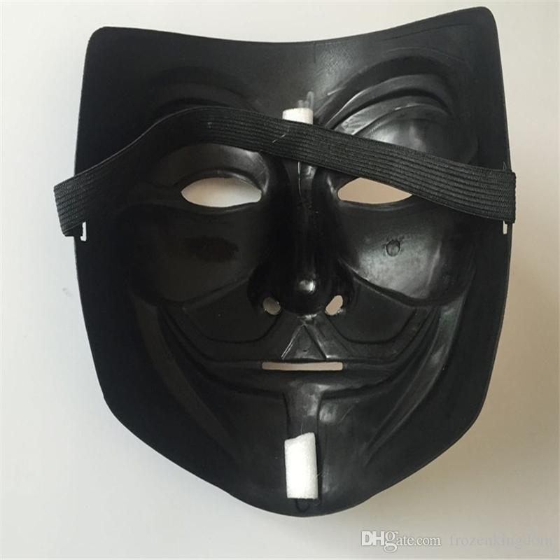 Atacado Máscara de Halloween Com Delineador de Ouro V para Vingança Máscara Guy Fawkes Partido Traje Máscara DHL Fedex Frete Grátis a170-a177