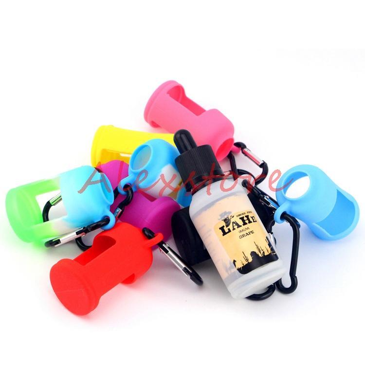 E 액체 병 소프트 파우치 박스에 대 한 실리콘 피부 보호 다채로운 디스플레이 케이스에 맞게 E 주스 병 30ML 실리콘 고무 슬리브 DHL