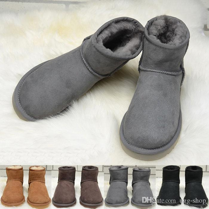 Hot Sale High Quality Classic Brand Women popular Australia Genuine Leather Boots Low Women's Snow Boots US5--10 Free Shipping