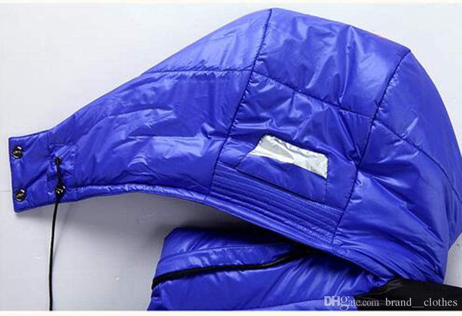 Men's Wintermode neue authentische kultivieren jemandes Moral abnehmbare Kappe mit dicken weißen Entendaunen große Yards Daunenjacke Mantel. S - 3xl