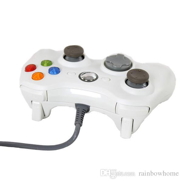 USB Wired Game XBOX 360 Controller Gamepad Joypad Joystick For Xbox 360 XBOX360 Slim Accessory PC Laptop Computer Retail Packaging DHL Q3