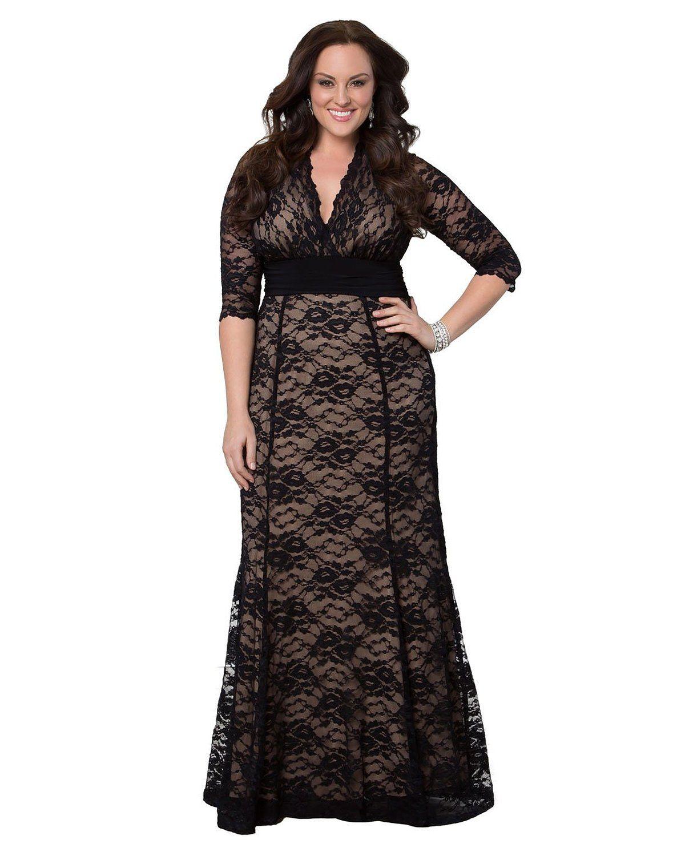 6xl Women\'S Plus Size Maxi Dress Women Long Little Black Lace ...