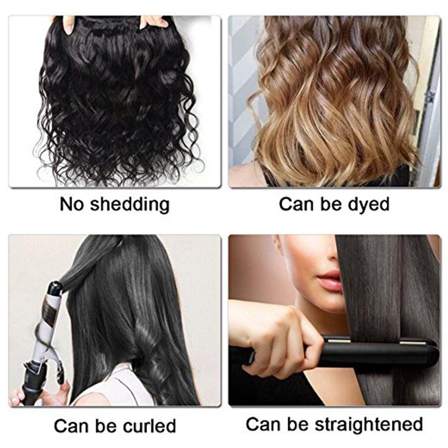 Reine Cheveux 100% Non Transformés 7A Brésilienne Vierge Cheveux Extension de Trame Vague de Corps 3 Bundles Humaine Weave DHL Livraison Gratuite Couleur Naturelle