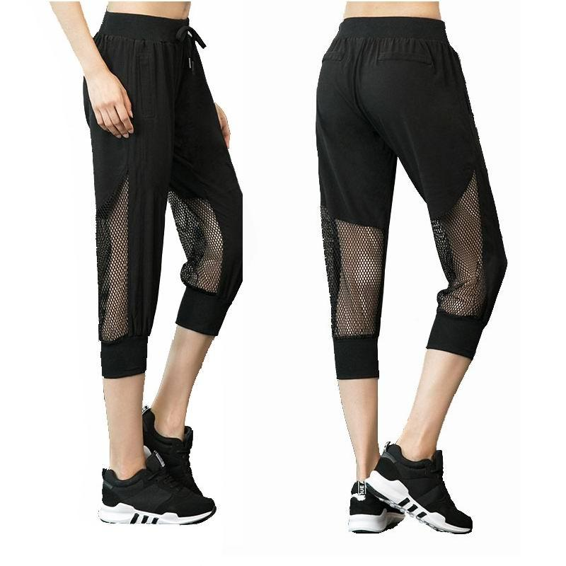 2019 Fitness Yoga Sports Loose Pants For Women Sports Trousers Mesh