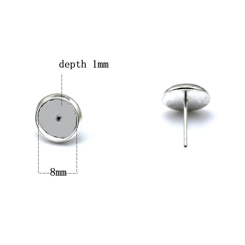 Латунные серьги-гвоздики в виде круглых кабошонов Beadsnice ободок заготовки серьги серьги женские модные украшения ID 32228