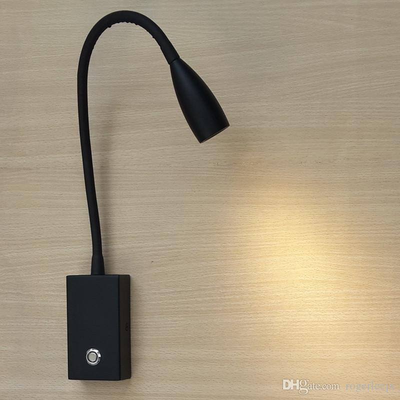 Topoch LED Black Light Touch ON/OFF/Dimmer Switch Aluminium Hose Tapered Head Focusing Lens 3W LED for Bedroom Camper Boats