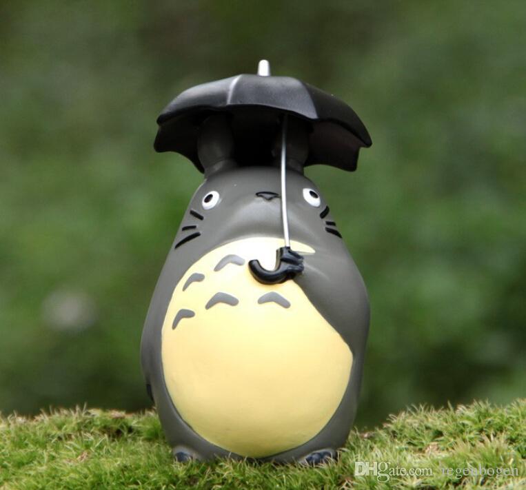 3 szt / Totoro Hayao Miyazaki Classic Style Micro Landscape Garden Doniczkowe sukulety Lalki Parasol Raincoat Xiaomei