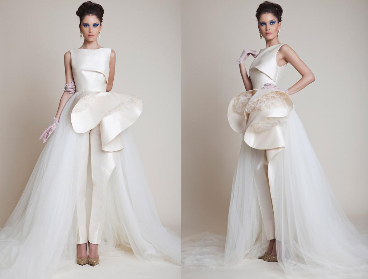 Discount 2015 Newest Style High Low Wedding Dresses Bateau