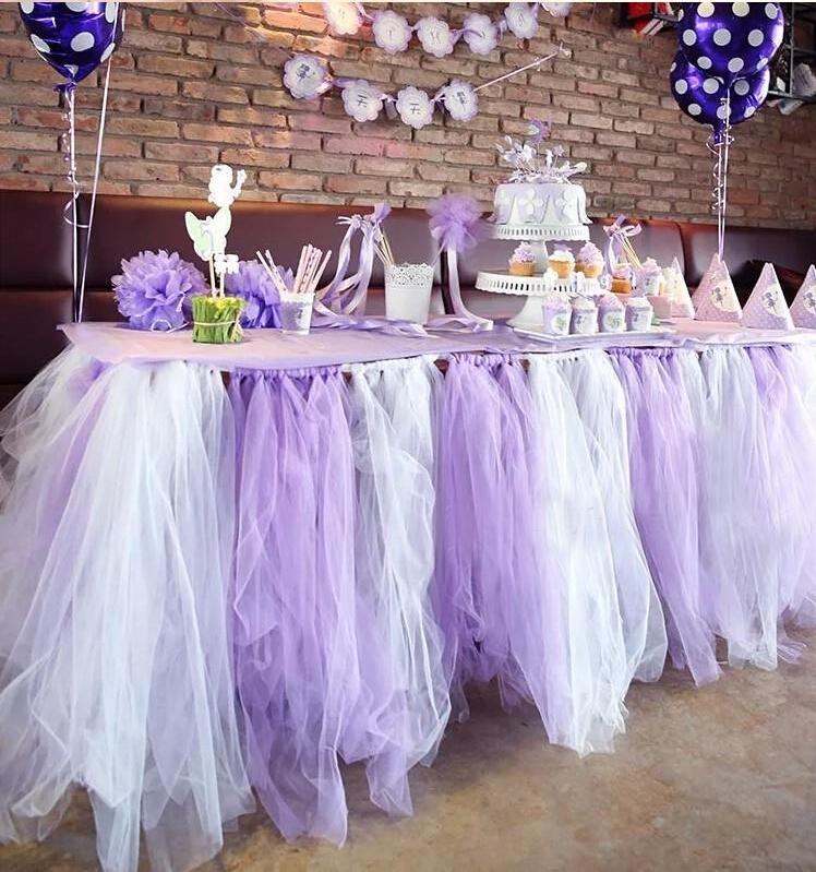 2017 150cm Width Romantic Table Cover For Wedding Party