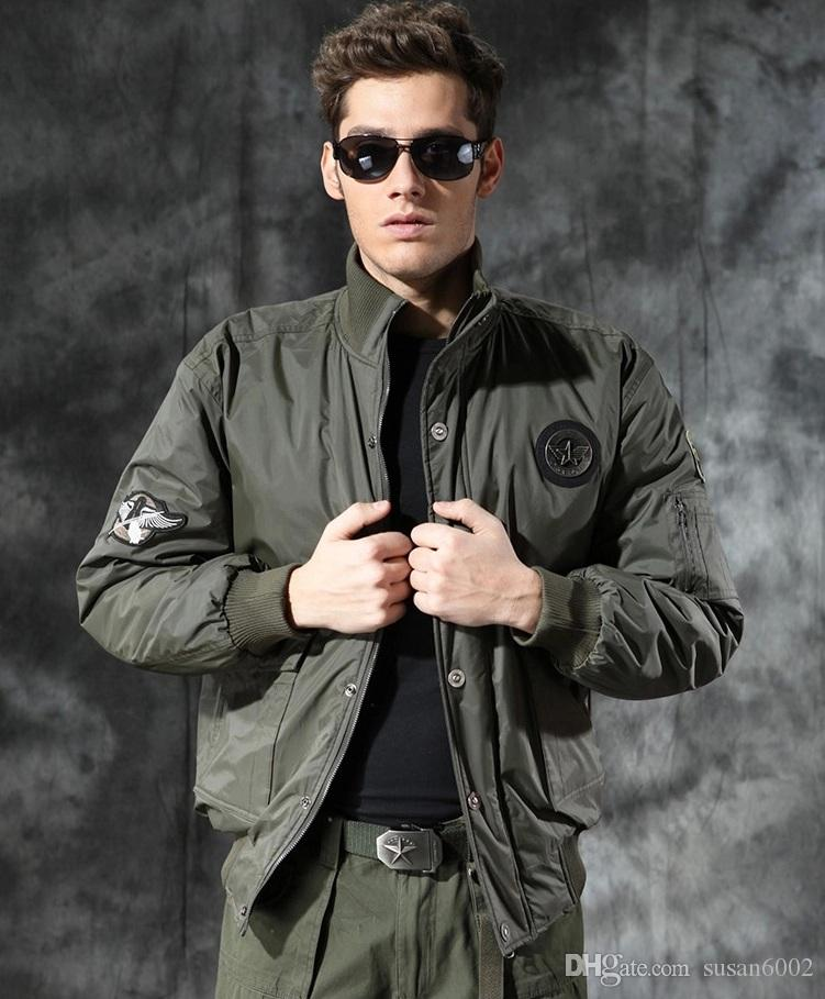 Winter Vintage Bomber Jackets Thick Warm Short Loose Flight Suits ...