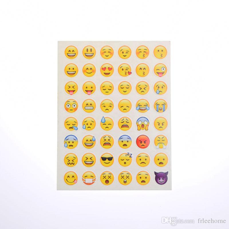 Emoji Face Stickers Removable Decal Mural Home Decor Emoji Smile Sticker For Laptop Notebook Facebook Tiwtter Child Gifts DIY label