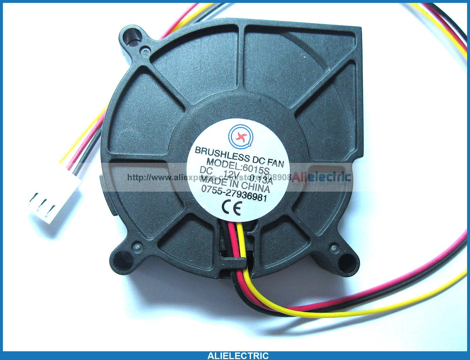 Brushless DC Cooling Blower Fan 6015s 12V 60x15mm 3 Wire Online with ...