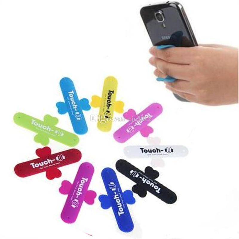 Berühren Sie u-reizenden mini Universalhandy-Halter-beweglichen One Touch-Silikon-Schreibtisch-Stand Touch-U für iPhone Samsung-Tablette DHL geben frei