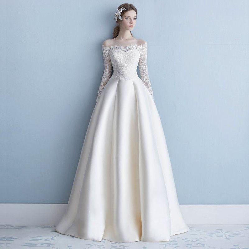 Winter a Line Wedding Dresses