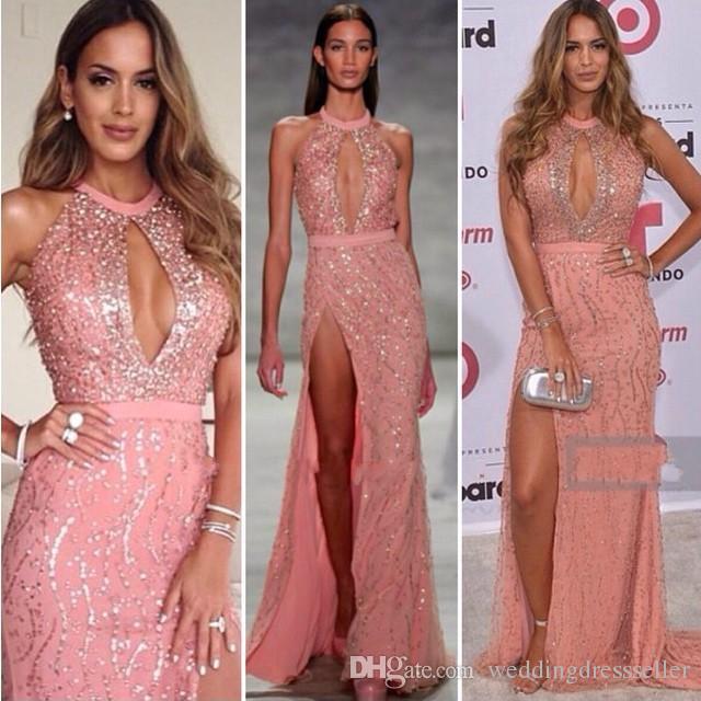 Großhandel Zuhair Murad Kleidet Vintage Abendkleider 2017 Rosa ...