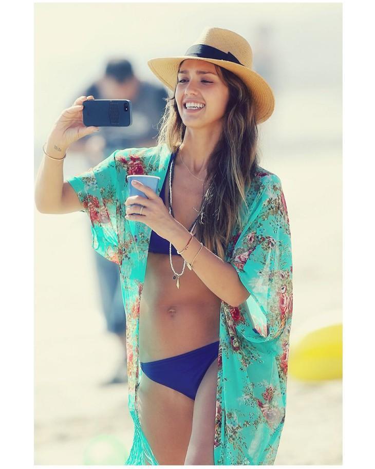 d58f8280408ad Acquista CALDO ! Lady Fashion Summer Beach Cover Up Dress ...