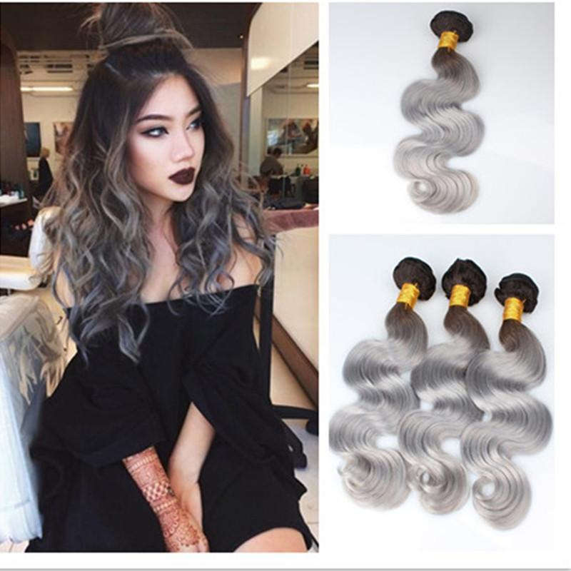 Cheap new sale 1bgray wavy human hair 7a brazilian virgin hair cheap new sale 1bgray wavy human hair 7a brazilian virgin hair body wave silver grey dark roots ombre hair weave extensions human hair weaves uk human pmusecretfo Gallery