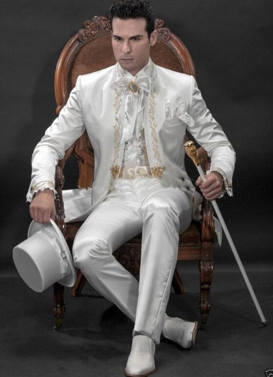 Nowy design Haut Groom Tuxedo Groomsman Blazer Garnitury męska Suknia ślubna Prom Odzieżowa kurtka + spodnie + krawat + pas] NO: 255