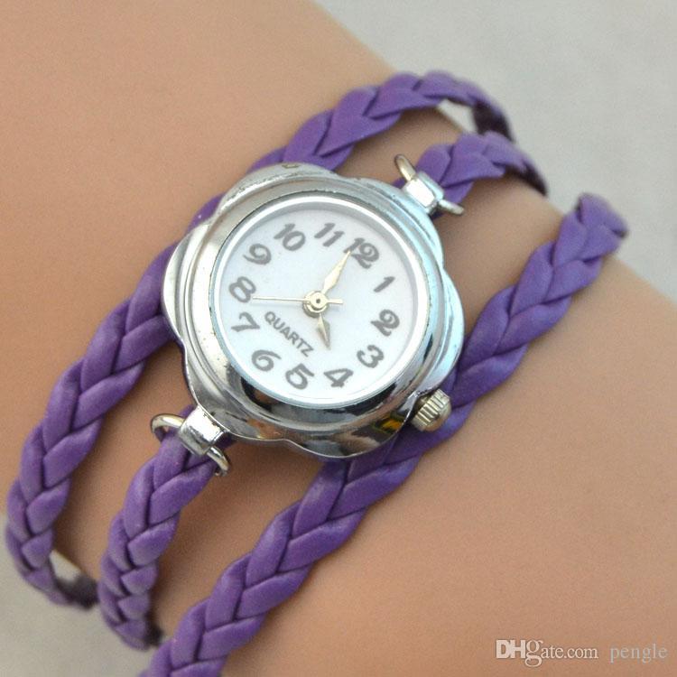 Infinito Encantos Relógios Relógios De Quartzo Moda Pulseira Relógios Relógios De Pulso Das Mulheres Assista Caso Rodada Mix Cores Frete Grátis