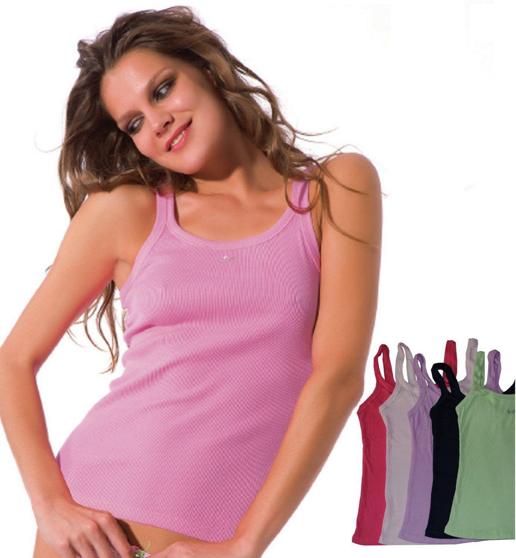 b2d88a01edfb1 2019 High Quality Women S Ribbed Tank Top Cami Sleeveless T Shirts  Pink Blue Red Green S M L From Binbin3