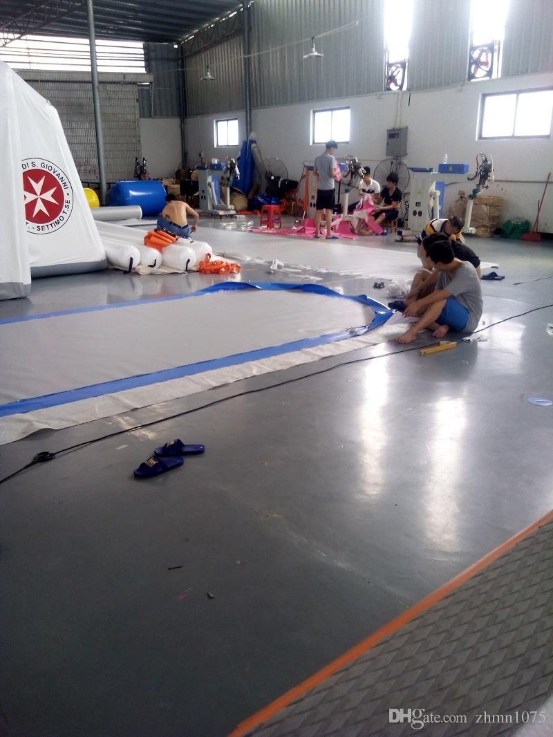 نفخ الهواء المسار نفخ رياضة حصيرة العديد من حجم لممارسة التمارين الرياضية الهواء تعثر المسار الجمباز التدريب الألعاب الأولمبية التايكوندو أو اليوغا