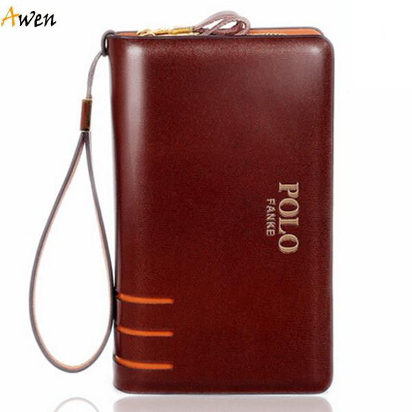 29b334579e Awen-new Arrival Large Capacity Hollow out Double Zipper Leather ...