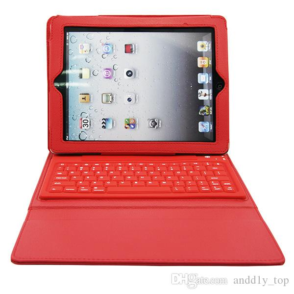 Bluetooth Wireless Keyboard leather case for Ipad Pro 1 2 3 4 5 air mini 2 retina Stand Holder Protector Protective Lined With Keyboard US01