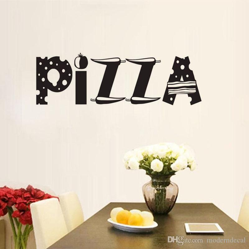 pizza wall decals vinyl removable DIY wall stickers kitchen waterproof home decoration tile sticker
