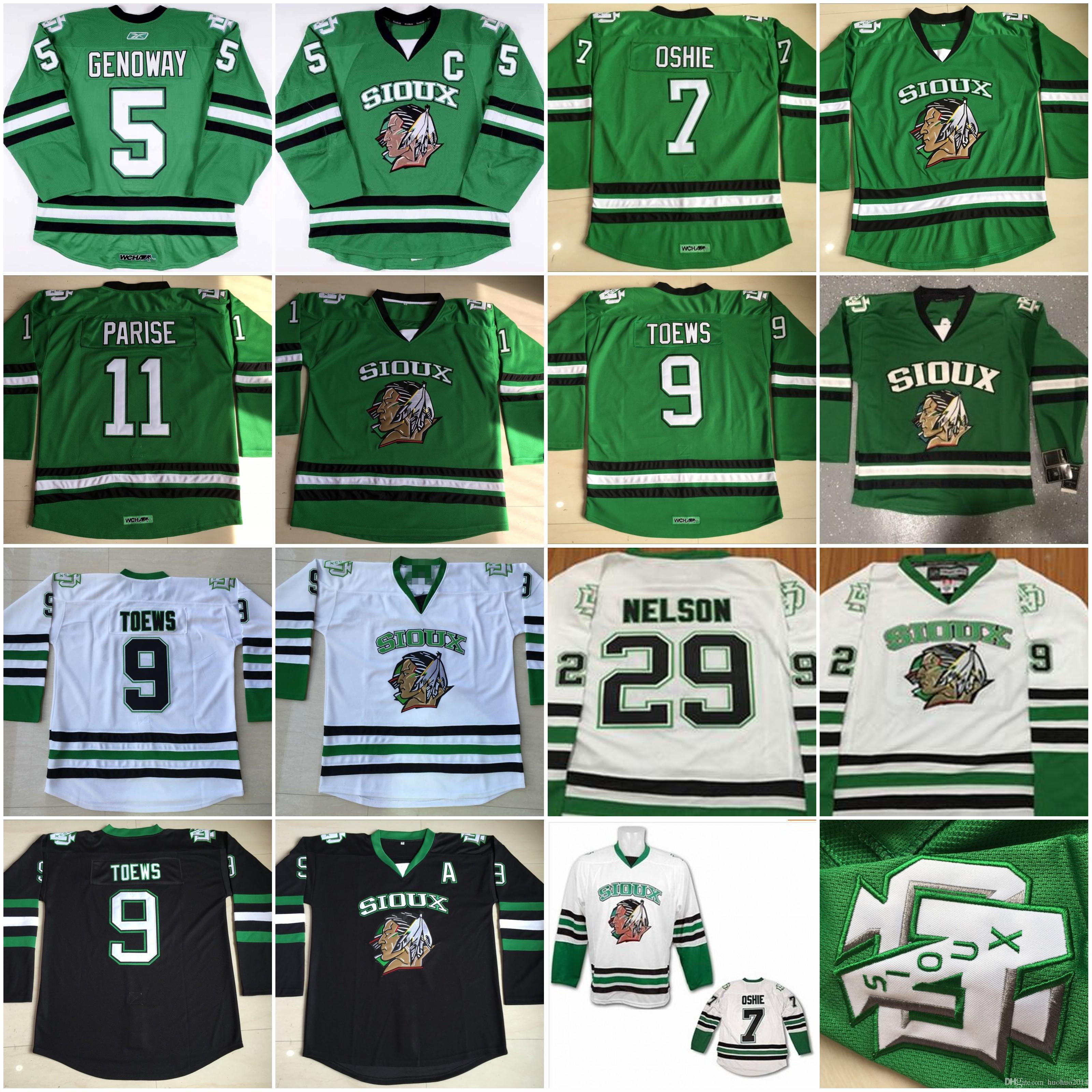 outlet store 4dfa8 97f78 Movie NORTH DAKOTA Fighting Sioux Jersey Zach Parise TJ Oshie Jonathan  Toews Spiewak Chay Genoway Brock Nelson College Hockey Jerseys