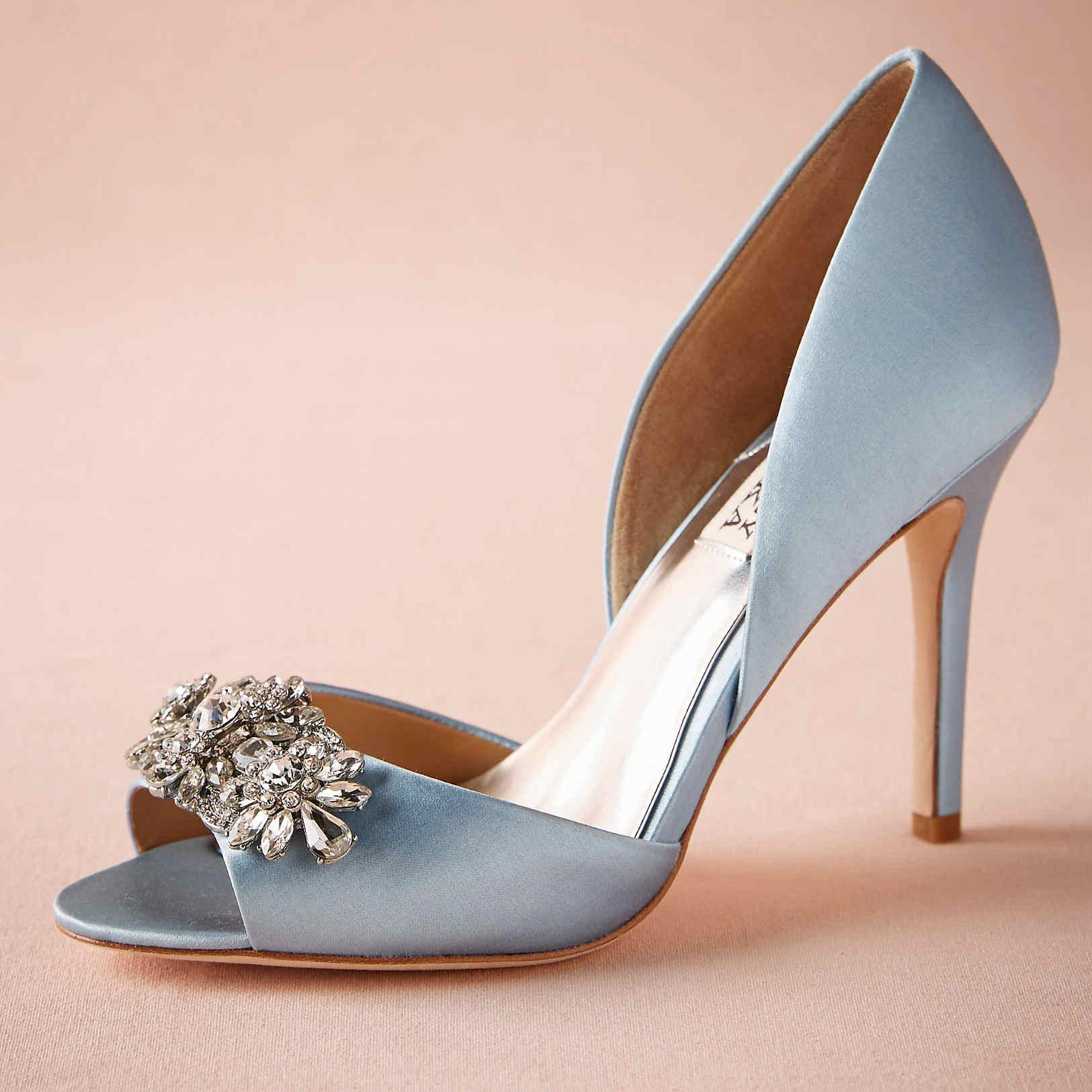 Light Blue Wedding Shoes Made-to-order Wedding Pumps Satin