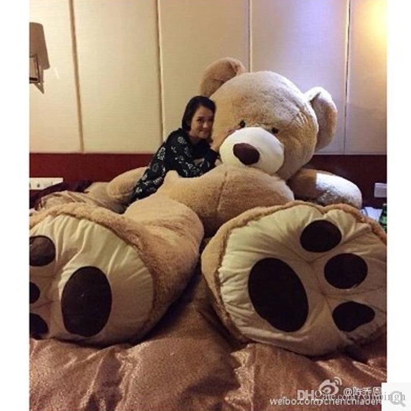 "EMS 11 FEET TEDDY BEAR STUFFED LIGHT BROWN GIANT JUMBO 134"" size:3.4m birthday gift"