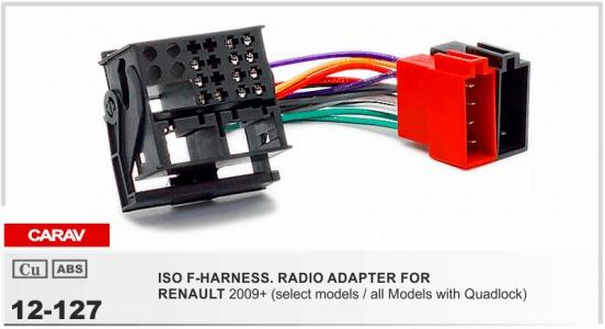 Carav Iso F Harness Radio Adapter For Renault Fluence 2010