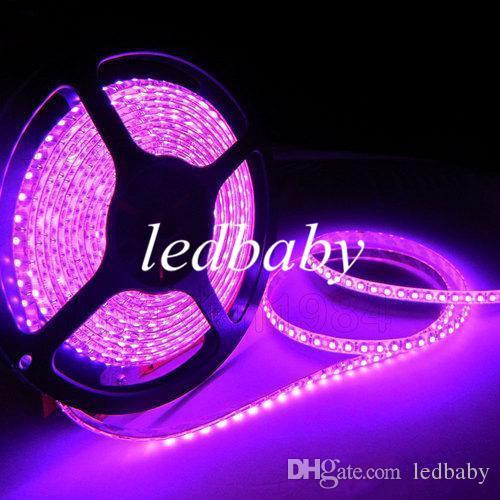 3528SMD 5M 300 Led / 600 Led Strisce led impermeabili flessibili luce 12V caldo / freddo bianco rosso / verde / blu / giallo / rosa luci natalizie