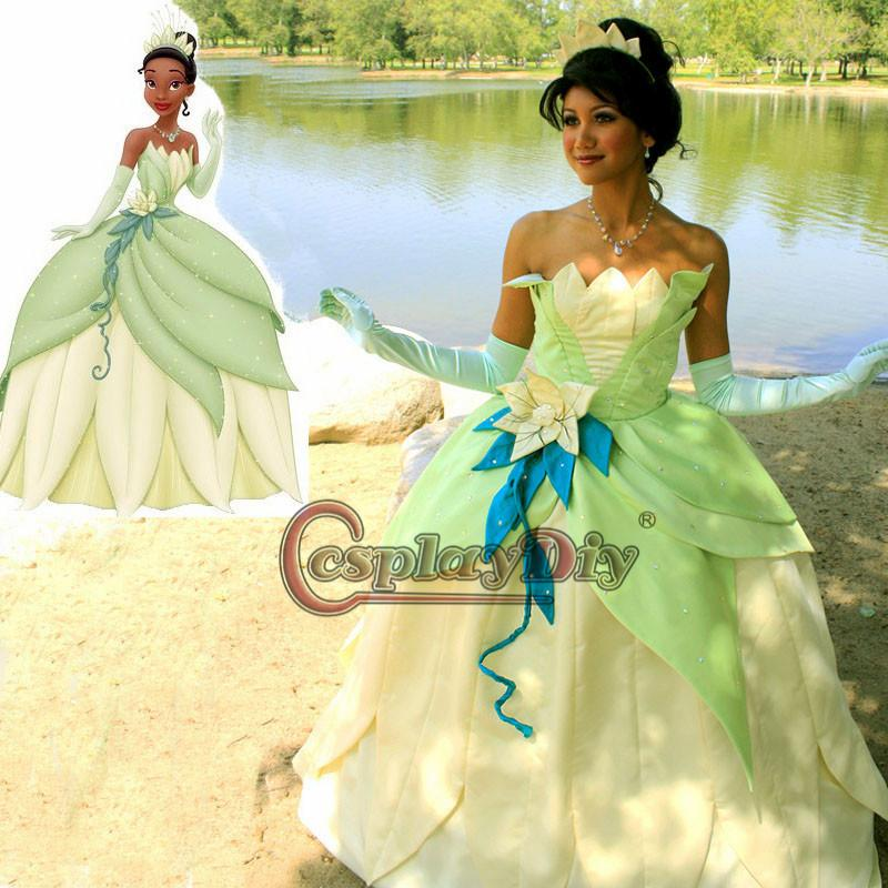 Custom Made Tiana Tiana Dress Cosplay Costume From The Princess And The Frog Women Costume Halloween Costumes Adult Size For Party Halloween Costume ...  sc 1 st  DHgate.com & Custom Made Tiana Tiana Dress Cosplay Costume From The Princess And ...