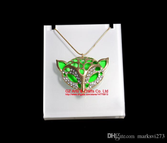 Alta qualità acrilico ciondolo collana di gioielli display stand supporto di stoccaggio organizzatore rack bianco