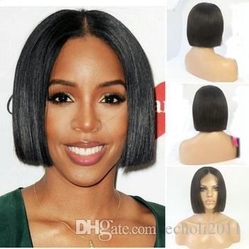 250% density human hair bob wigs for black women full natural lace frontal wigs good review dhl
