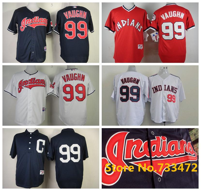 ... 2017 Hot Sale Indians Mens Jerseys 99 Ricky Vaughn Red New 1978 Baseball  Jersey Stitched Top ... afaa76561