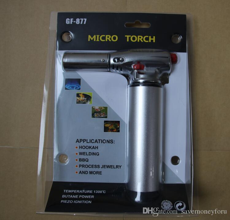 Kitchen Torch 1300C 2500F Butane Scorch Torch Jet Flame Torch Lighter Giant Heavy Duty Butane Refillable Micro Culinary Torch Self-igniting