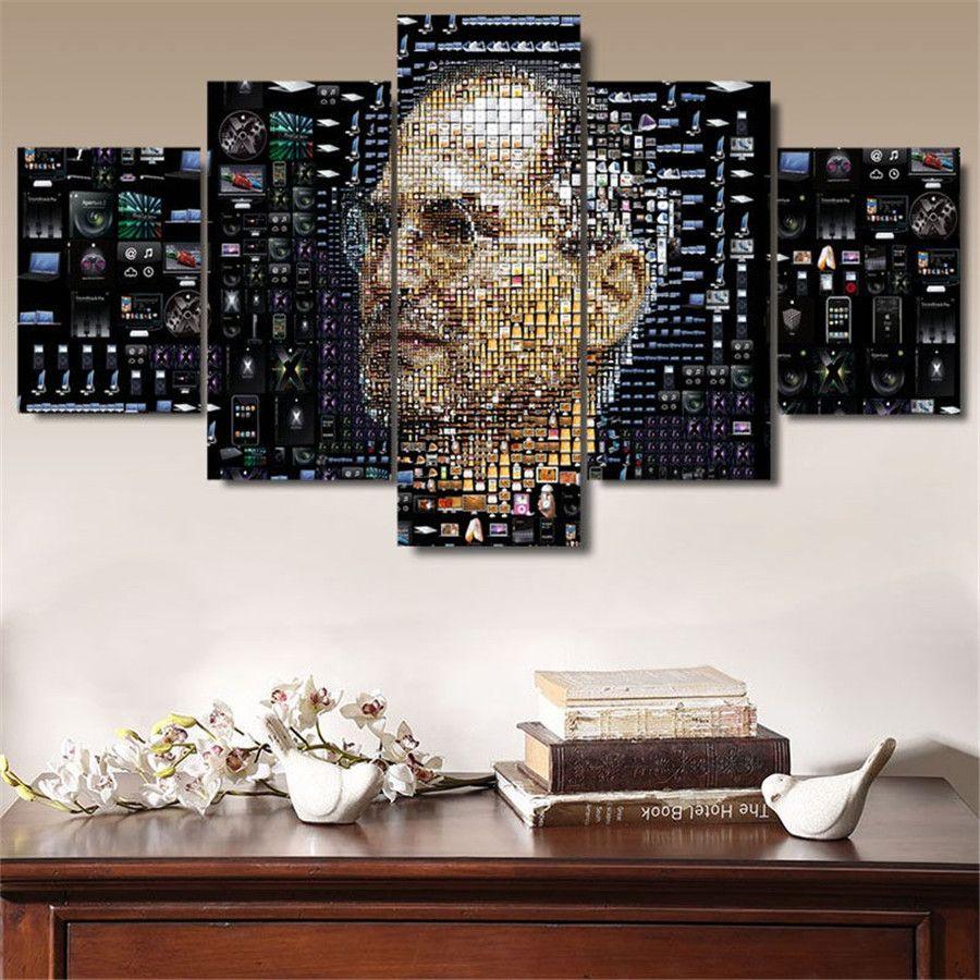 2019 Apple Steve Jobs Home Decor Hd Printed Modern Art Painting On
