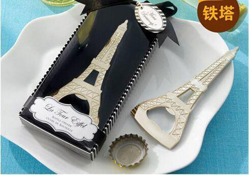 2016 Mariage Retour Cadeaux Paris Tour Eiffel ouvre-bouteille de bière fête de l'événement Favors Cadeaux Cadeaux gros