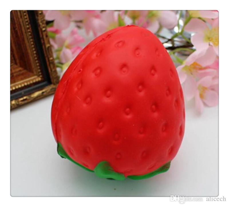 Fresa Slow Rising Squishy Juguete Cocina Comida Fruta Juegos de imaginación Educativo Jumbo Lindo Strawberry Squishy Slow Rising Suave juguete