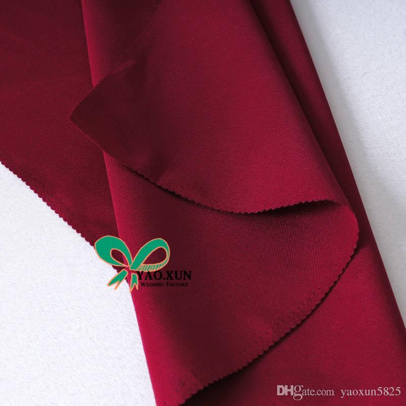 Burgundy Color 100% Poliéster guardanapo \ casamento guardanapos boa qualidade preço barato