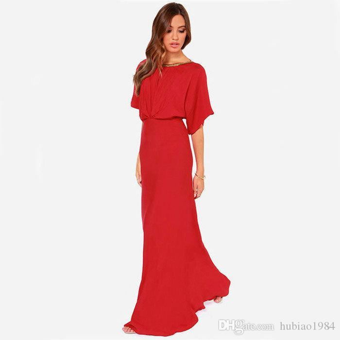 2019 2015 Hot Red Long Dresses To Attend The Wedding Of High Grade