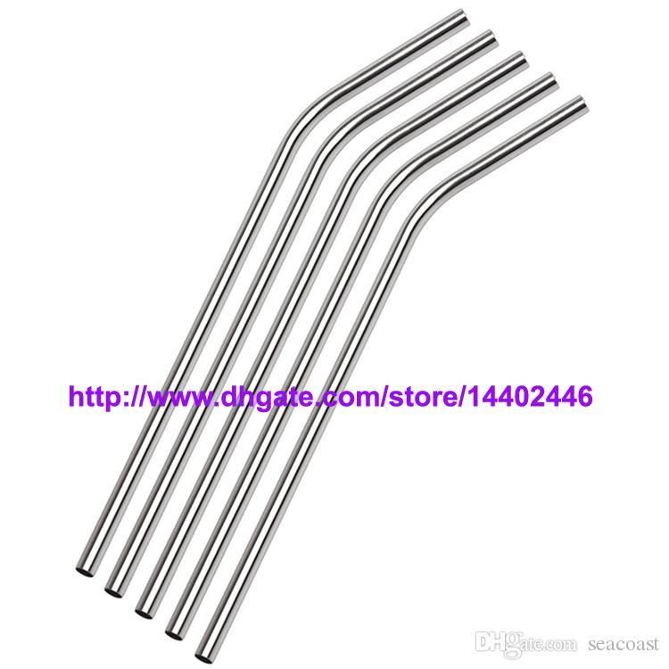 Envoi gratuit / en acier inoxydable de paille en acier potable Straws 8,5