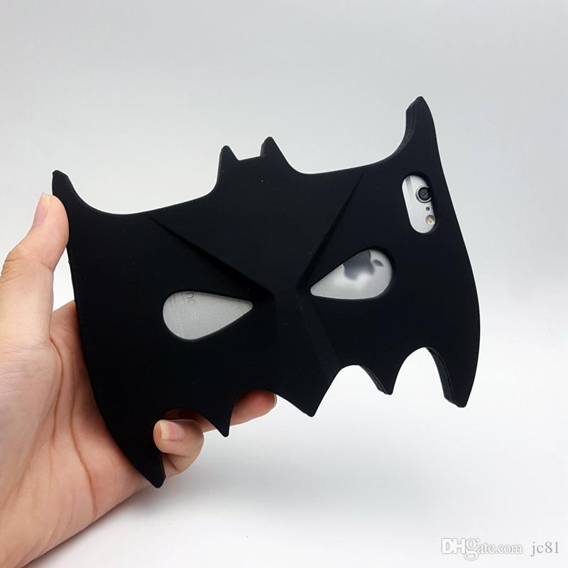 3D Cool Big Hero Batman Eyeshade Doux Silicone Chirstmas Couverture Retour Cas de Téléphone pour Iphone5 5s 6 6 s 6 plus 7 7 plus