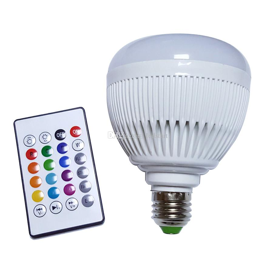 Colorful RGB LED Bluetooth Bulb Wireless Music Audio Speaker For iPad iPhone Smartphone Laptop E27 6W Bulbs